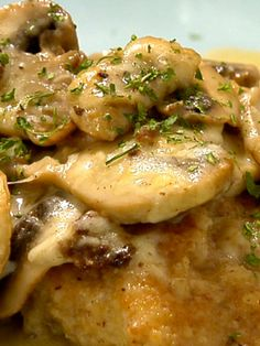 Easy chicken and mushroom recipe yummy Meat Recipes, Chicken Recipes, Dinner Recipes, Cooking Recipes, Chicken Dishes For Dinner, Dinner Dishes, Main Dishes, Healthy Low Calorie Meals, Kitchens