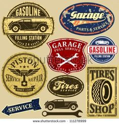 vintage mechanic logo - Google Search