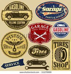 vintage mechanic logo - Google Search