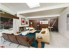 I love the one wall of veneer wood! Producer Allison Adler has listed her Beverly Crest house at $1.99 million.