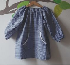 Smock for school, not buttoned, pure cotton, no Hello Kitty, no Ben 10!