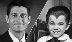 """Of the four pluses Hendrik Hertzberg cites regarding Mitt Romney's VP choice, Paul Ryan: """"Hair squared, baby. Romney's is legendary, of course, but Paul Ryan has excellent, even important hair. So black, so slick, so adorable. That little widow's peak brings just the right touch of devilish, yet not really satanic, mischief."""" Click-through for the rest: http://nyr.kr/OTiPNY"""
