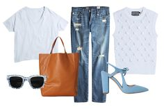 How To Wear A White T-Shirt ALL Weekend (although I might just pass on the sunnies) #Refinery29