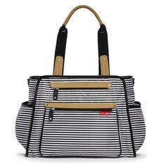 f630ccd624a45 BOLSA MATERNIDADE ( DIAPER BAG) GRAND CENTRAL - BLACK STRIPE - SKIP HOP  Bolsa Maternidade