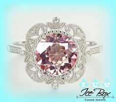 Hey, I found this really awesome Etsy listing at https://www.etsy.com/listing/173898461/morganite-engagement-ring-14k-white