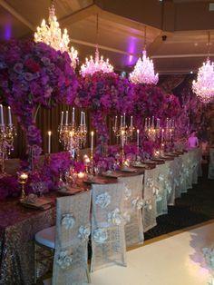 WOW!! Fabulous orchid tablescape!!