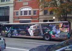 Hollywood Casino Lawrenceburg, IN Full Bus Wrap in Cincinnati, OH