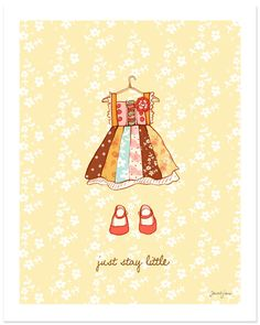 Just Stay Little (Girl) art print from Sarah Jane Studios