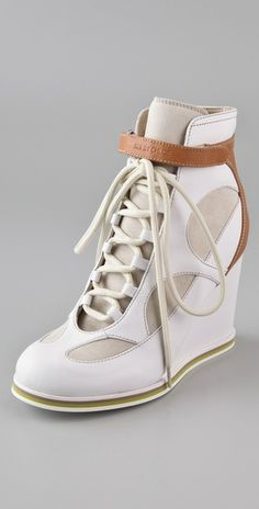 Obsessed with these See by Chloe wedge sneakers