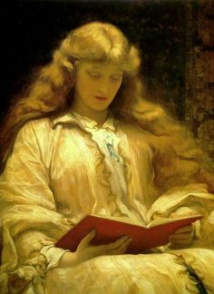 """""""The maid with the yellow hair""""-Frederic Leighton(1830-1896)"""