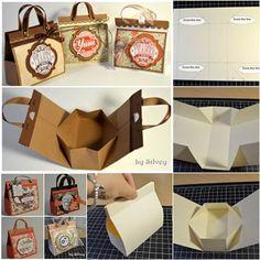 How to DIY Beautiful Mini Gift Bags | iCreativeIdeas.com Like Us on Facebook ==> https://www.facebook.com/icreativeideas