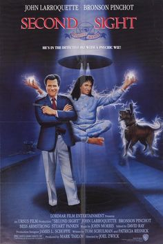 Second Sight , starring John Larroquette, Bronson Pinchot, Bess Armstrong, Stuart Pankin. John Larroquette is the head of a detective agency that is hired to find a missing person, probably kidnapped... #Comedy #Mystery #Sci-Fi