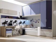 Habitación para jóvenes modular con armario puente 201 | Habitación con armario puente - Doimo CityLine