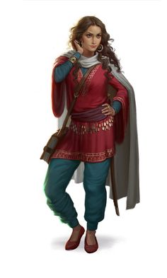 Zeyna Karatay from Tarahen, both fighter and mage, mainly skilled in the air and body lores, suddenly sees a interesting woman that comes out of a inn in Wiron.