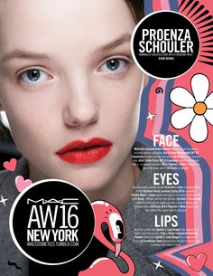 M·A·C Backstage at Proenza Schouler AW16 NYFW. Get the look with Lady Danger Lipstick!