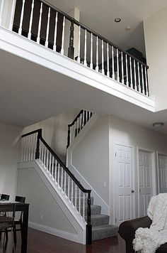 Chic on a Shoestring Decorating: How to Stain Stair Railings and ...
