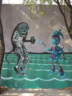 Don Juan dinero seduce a la guardia del cenote #street #streetart #graffiti #mural #streetartistry #streetarteverywhere #urban #urbano #lesuperdemon #raul_sisniega #L3SD #mexico #diseñomexicano #globalstreetart #walls #artists #paintedcities #lesuperdemon #raul_sisniega #mexico #street #streetart #streetarteverywhere #wall #muro #ilustracion #illustration #kunst #artepublico#geisteskunst #graffiti #streetartist #mexico #streetart #street #urban #art #urbanart #arte #urbano