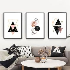 Nordic Decoration Geometric Wall Art Canvas Painting Posters And Prints Cuadros Decoracion Canvas Art Wall Pictures Unframed Abstract Canvas Wall Art, Geometric Painting, Geometric Wall Art, Diy Canvas Art, Wall Canvas, Modern Canvas Art, Abstract Paintings, Wall Art Crafts, Home Wall Art