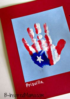 Flag handprint. - Repinned by Totetude.com