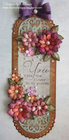You Are the Flower in My Garden Tag by marisajob - Cards and Paper Crafts at Splitcoaststampers