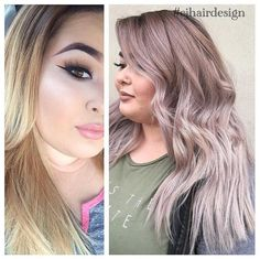 Gorgeous rose metallic by Claudia Molinar! She used #KenraColor 8VM and SV with Violet Booster at her root area, then 9VM + 9PV + ribbon of SV with Violet Booster for the ends. #MetallicObsession