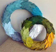 make these felt wreaths