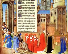 Pope Gregory the Great leads a litany procession in Rome in 590, praying for an end to the first pandemic plague. This miniature from the Tres Riches Heures of the duc de Berry (early 15th century) was painted by Pol Limbourg, whose brothers Hermann and Jan, witnessed similar proceedings in Paris during the Black Death.