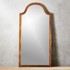 Rough-hewn aluminum frames full length mirror in organic style. Graceful arch tops off rectangular shape, adding natural elegance to the bedroom or living room. Anti tip hardware is included. Modern Floor Mirrors, Unique Mirrors, Vintage Mirrors, Home Decor Mirrors, Cleaning Walls, Traditional Artwork, French Oak, Red Rugs, Decoration