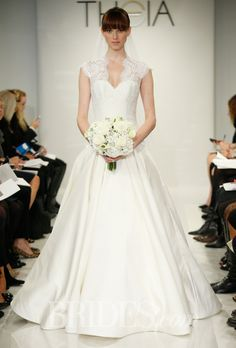 Theia - Fall 2014: love the bodice; beautifully cut. Also love the cut of the skirt (full, floor length circle skirt)