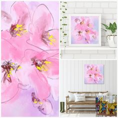 Pinkshade Flowers - Flowerly Abstracts - Square Art - Wall Art Prints - Digital Downloadable Prints #Pink #Square #Flowers Printing Services, Online Printing, Wall Art Prints, Fine Art Prints, Square Art, Types Of Printer, Home Printers, Decorating Your Home, Gallery Wall
