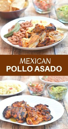 Pollo Asado is marinated in citrus juices and a special blend of spices and then grilled to perfection. It's delicious fresh off the grill& your favorite sides and leftovers are amazing in tacos, burritos or quesadillas! Mexican Dishes, Mexican Food Recipes, Dinner Recipes, Paleo Dinner, Dinner Ideas, Grilling Recipes, Cooking Recipes, Endive Recipes, Tagine Recipes