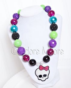 Monster High Necklace halloween necklace by AdoreMooreBoutique, $22.00