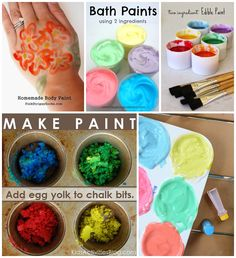 Making paint - #KidsActivities #Crafts