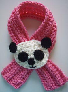 Ravelry: Crochet Panda Scarfette Scarf pattern by Lisa Casillas