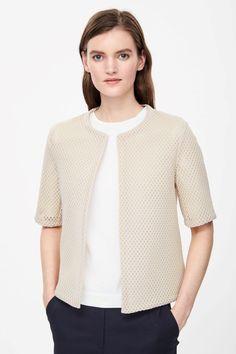 Cropped mesh blazer