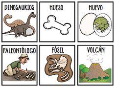 RECURSOS y ACTIVIDADES para Educación Infantil: Tarjetas de Vocabulario de los Nombres de dinosaurios (VI) - Mayúsculas