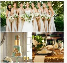 Gold and green wedding