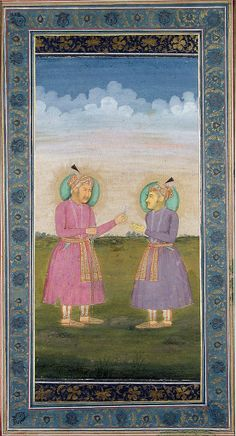 Akbar-e-Azam with his son Sultan Murad