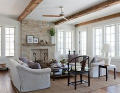 Modernes Wohnzimmer Mit Kamin Ein Moderner Oder Rumford