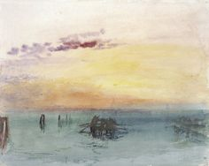 Venice: Looking across the Lagoon...1840 by  Joseph Mallord William Turner