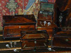 antique tea caddies -