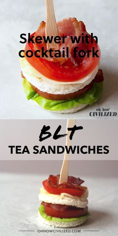 Mini BLT Bacon Lettuce Tomato Sandwiches Mini BLT Bacon Lettuce Tomato Sandwiches Oh How Civilized ohhowcivilized Tea Party Food An adorable mini version of a bacon nbsp hellip cards videos Afternoon Tea Recipes, Afternoon Tea Parties, Party Snacks, Tea Party Recipes, Tea Party Foods, Tea Party Menu, Party Food Ideas, Fancy Party Food, Picnic Recipes