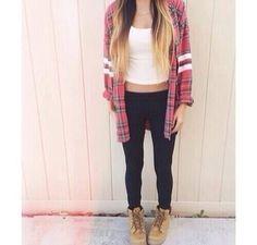 plaid shirt outfit tumblr