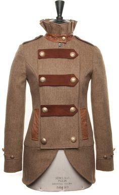 Prince of Wales Jacket in Brown Herringbone with Ostrich | Womens Tweed | Holland Cooper - Luxury Country Clothing from Holland Cooper - Tweed with a Twist