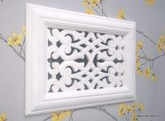will cover any bad vent opening quick & easy. A Superbly Styled, Vent Cover Highly Detailed. Fireplace Vent, Fireplaces, Wall Vent Covers, Tv Cupboard, Ceiling Rose, Scroll Saw Patterns, Air Vent, House Cleaning Tips, Wall Plaques