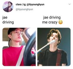 Check out @ Iomoio Park Jae Hyung, Jae Day6, Young K, Funny Kpop Memes, Drive Me Crazy, Korean Entertainment, Man Humor, Kpop Groups, Cosplay