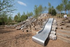 These cool playground slides will open with The Hills on Governor's Island Cool Playgrounds, Kids Play Equipment, Splash Park, Tree House Designs, Natural Playground, Landscape Architecture Design, Parks And Recreation, The Great Outdoors, Sun Lounger