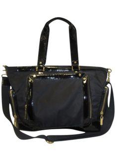 1d18185df5e53 Tory Burch Black Nylon Diaper Bag Tote - Keeks Buy + Sell Designer Handbags