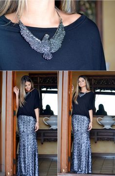 Silver Skirt - Thassia Naves