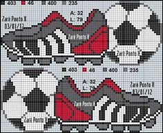 Billedresultat for punto cruz bebes futbol Cross Stitch Letters, Cross Stitch For Kids, Cross Stitch Baby, Cross Stitch Charts, Beading Patterns, Embroidery Patterns, Stitch Patterns, Cross Stitching, Cross Stitch Embroidery
